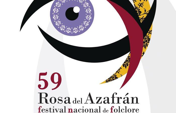 Cartel Festival Nacional de Folclore Rosa del Azafrán 2021
